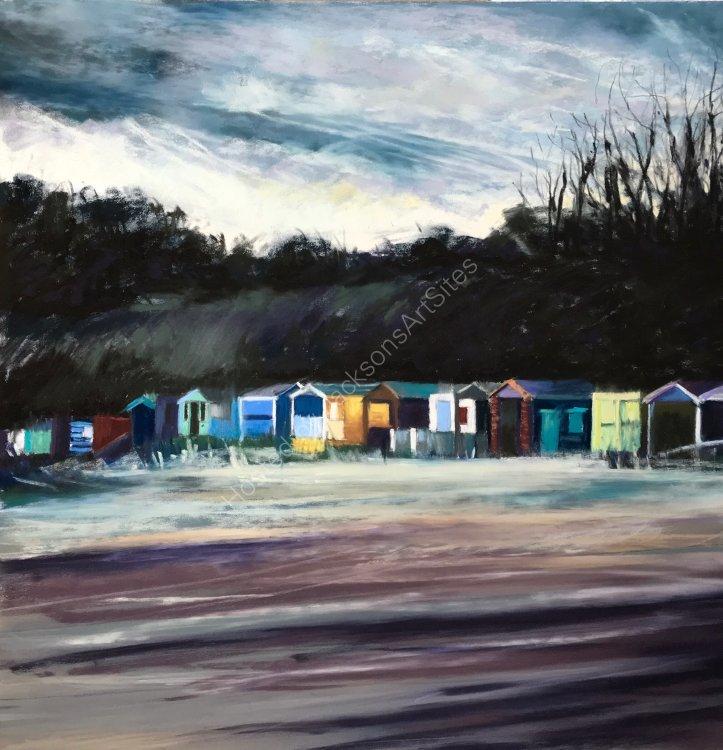 Beach Huts in Winter - SOLD