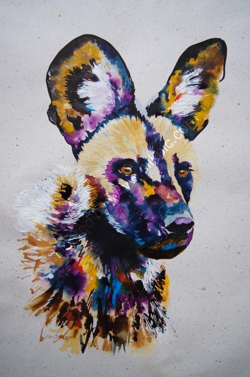 """""""Painted Dog (portrait)"""