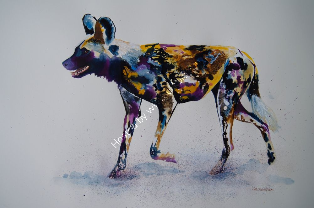 """Painted Dog"" (full body, moving)"