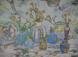 Vases, Buttercups and Armenian Bowl