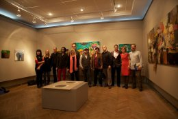 At the exhibition - all the artists