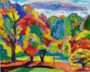 Autumn, Late Afternoon. Oil and Acrylic on canvas, 2008 45cm x 60cm
