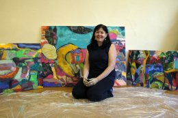 With My Paintings