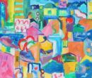 Nicosia Night, Billboards.' Oil on canvas, 2008 71cm x 61cm