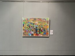 My painting 'Social Integration, Peace and Opening Up,' in the Dafen Art Museum, Shenzhen