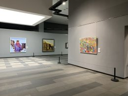 My painting (on the right) in the Biennale