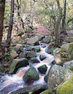 River At Padley Gorge'