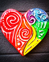 Multicoloured heart