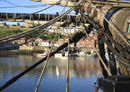 Aboard H.M.S. Bark Endeavour in Whitby Harbour