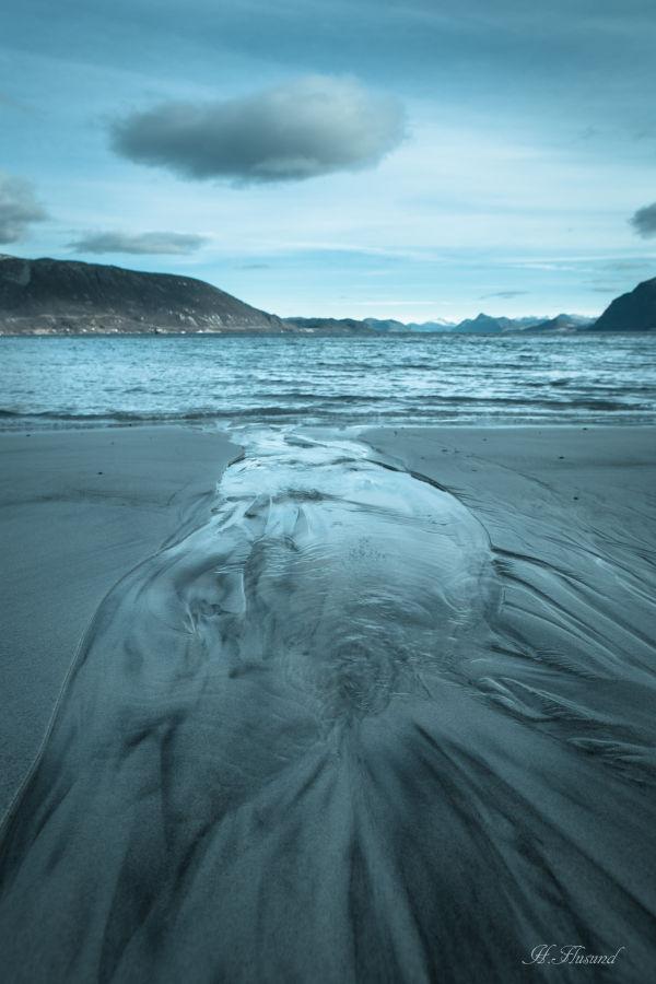 Ansikt i sand
