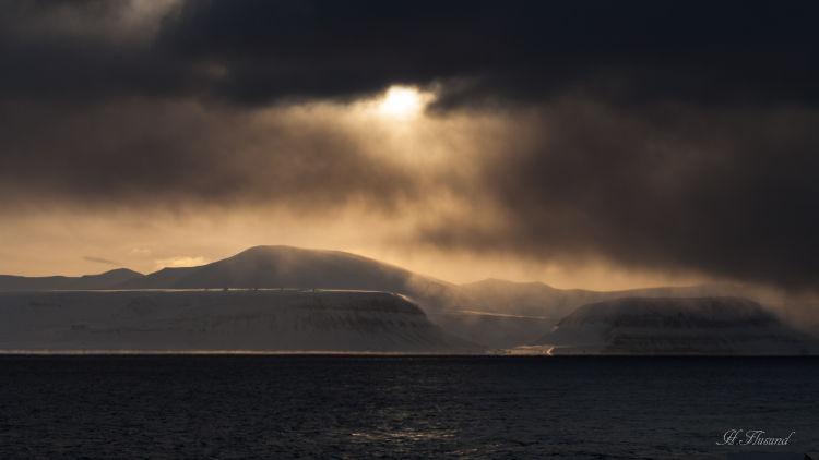Solgløtt ved Platåberget
