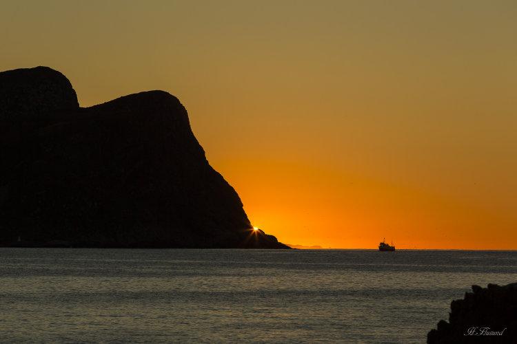 Golleneset i solnedgang