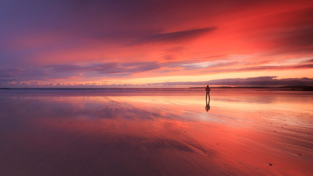 Reflection time at Inch Beach, East Cork