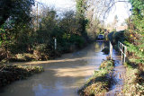 Folkingham Ford in Flood