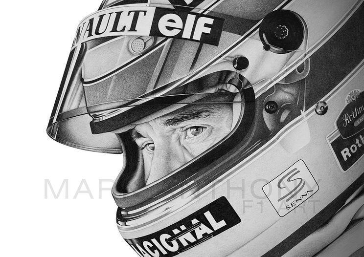 Ayrton Senna artwork by Formula 1 artist Mark Anthony