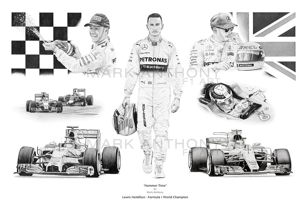 Lewis Hamilton 'Hammertime' Limited Edition fine art print
