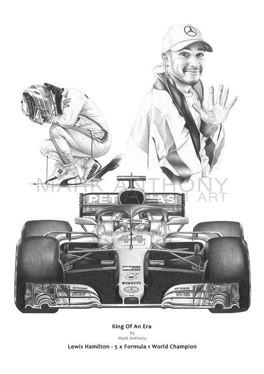 Lewis Hamilton 2018 Formula 1 World Champion fine art print