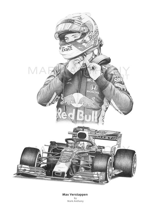 Max Verstappen Art Print by Mark Anthony F1 Art