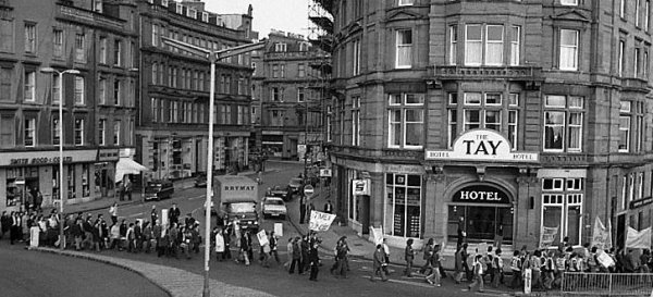 2014 STUC 117th Annual conference in Dundee - Reports & Links. Photograph 'From the past - a Dundee march'