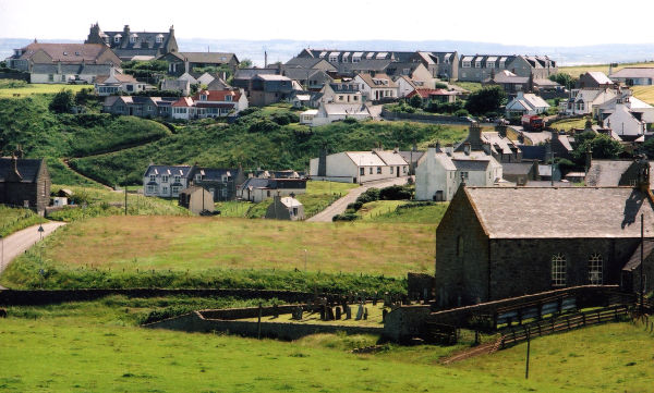 View approaching Collieston from Oldcastle