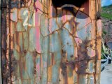 Container close-up at Port Erroll harbour, Cruden Bay. 'Rust never sleeps.' In use as website wallpaper.