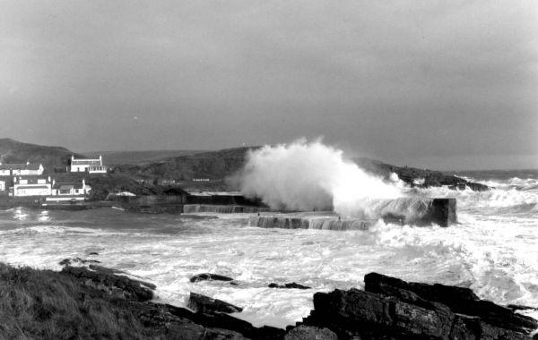 Collieston storm. Weather news. Scotland's east coast.