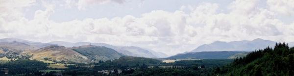 Great Glen towards Ben Nevis and Fort William