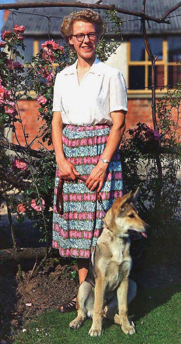Mum, Joyce, with Sable