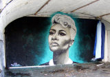 Smoke's Emile Sande mural in the Arches, Union Terrace
