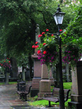 St Nicholas churchyard, Aberdeen on a rainy day
