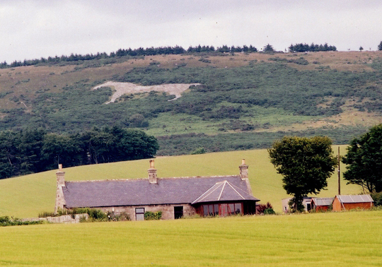 White Horse, Mormond Hill from Formartine & Buchan Way.