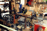 Garage workshop exhibit at Grampian Transport Museum, Alford
