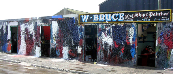 Since W Bruce/Patsy's began, ship painters have cleaned brushes outside their sheds