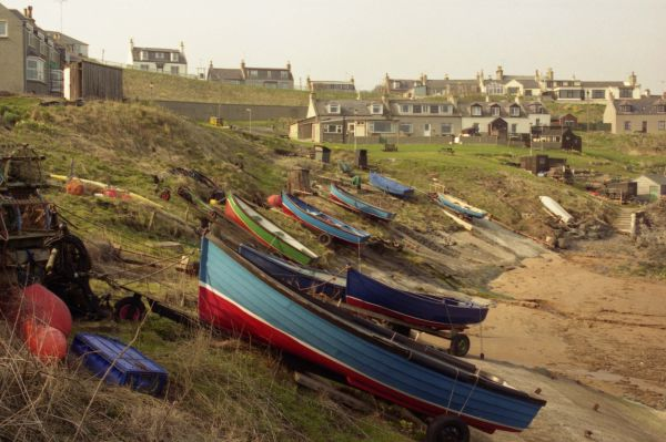 Boats at Collieston harbour