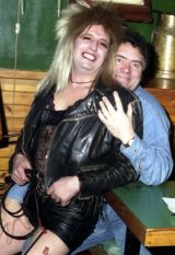 Max Boyce and friend at Radars, Aberdeen