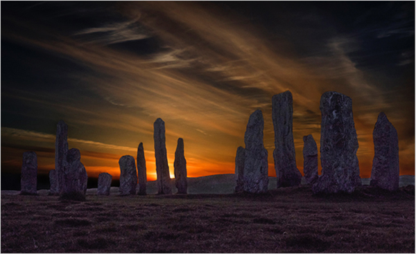 1st Place Dusk at Callanish by Pete Swanson
