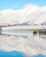 C Skiddaw in Snow Reflected by Peggy Pics