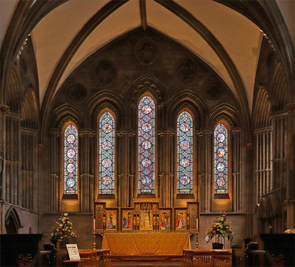 HC Hereford Cathedral Interior by Peter Watson