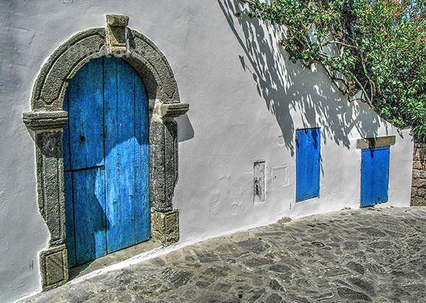 Three blue doors Cynthia Bollands Second