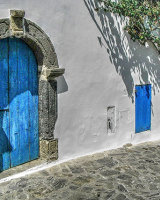 Three blue doors Cynthia Bollands Second