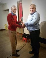 Winner of the Eric Cox Trophy Peter Watson