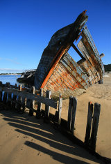 L'épave  The jetty, Ethel, France