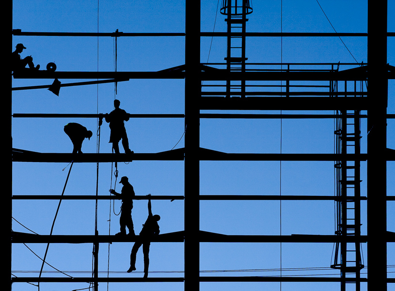Acrobatic construction workers 3