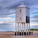 low lighthouse at burnham-on-sea