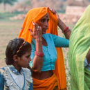 village colour in rajasthan