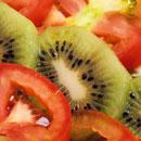tomatoes and kiwi fruit