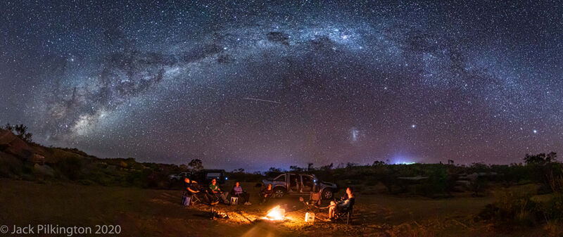 Starlight camp fire-©Jack Pilkington