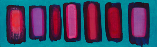 floats on teal blue, 2010 <br>