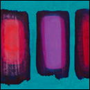 floats on teal blue, 2010  oil on gesso