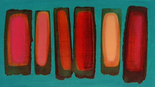floats on teal green, 2010 (sold)oil on gesso